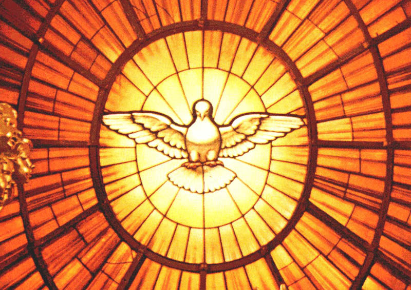 Stained Glass Holy Spirit Dove